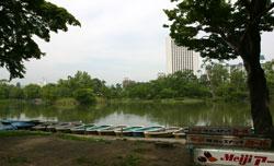 菖蒲池のボート