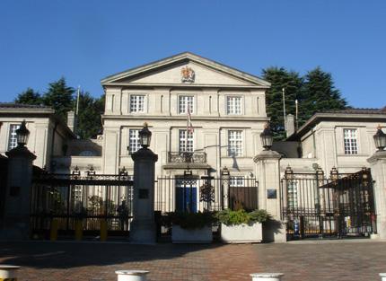 イギリス大使館正面玄関