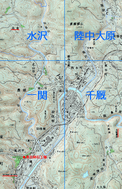 五万分の一地形図の境界