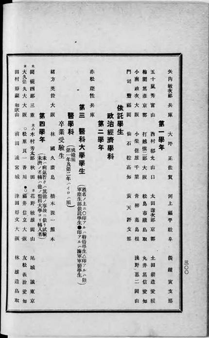 『京都帝国大学一覧 大正5-6』