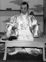 六代目尾上菊五郎(「菅原伝授手習鑑」の菅丞相)