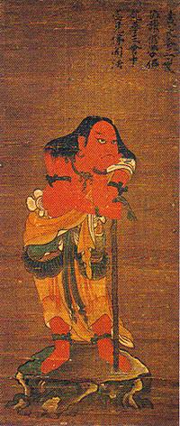 「春日赤童子像」(植槻八幡神社蔵)