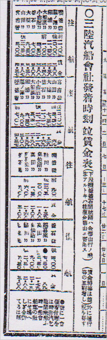 三陸汽船時刻表