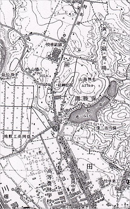 2万5千分の1地形図「盛岡」(昭和16年発行)