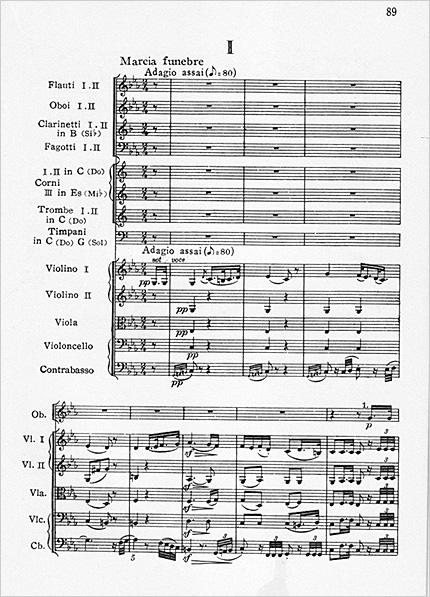 ベートーヴェン交響曲第3番第2楽章冒頭