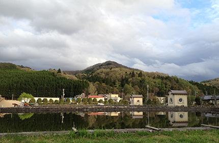 高洞山(上米内浄水場より)