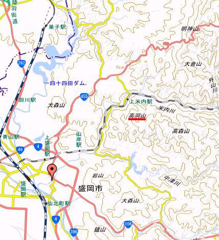 高洞山地図