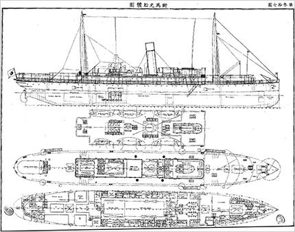 対馬丸船体図