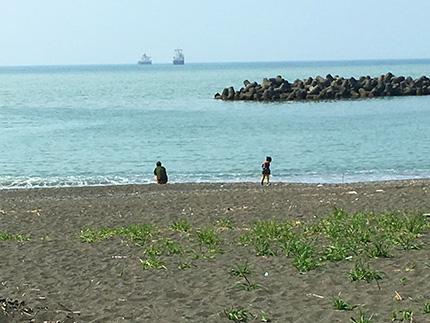 ふるさと海岸の砂浜