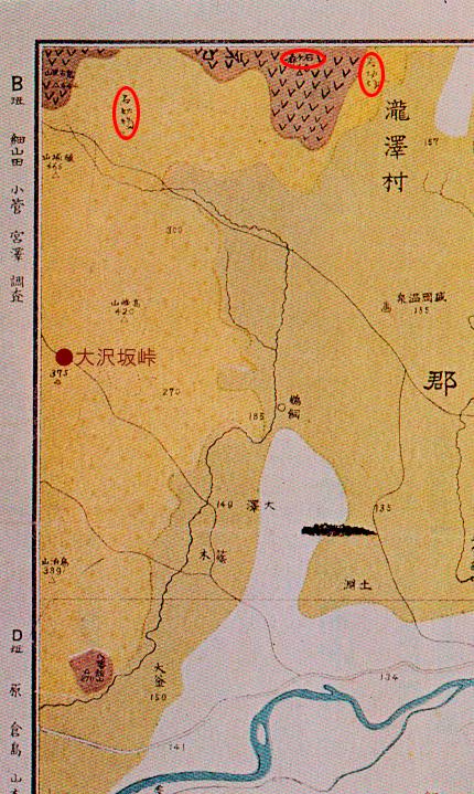 盛岡附近地質図(拡大)