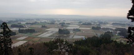 円万寺から稗貫平野