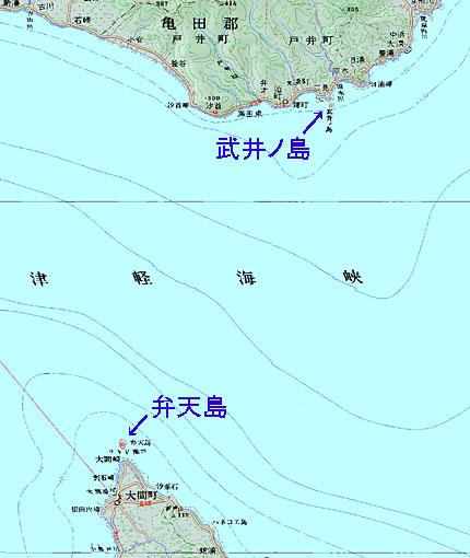 武井ノ島と弁天島