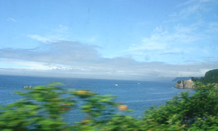 噴火湾(車窓から)