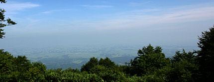 八方山頂上からの眺め