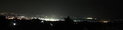 韮崎市街の夜景