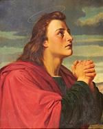 「使徒ヨハネ」Peter Nicolai Arbo(1866)