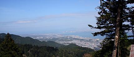 比叡山から眺める琵琶湖
