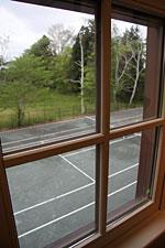 水沢緯度観測所の裏のテニスコート