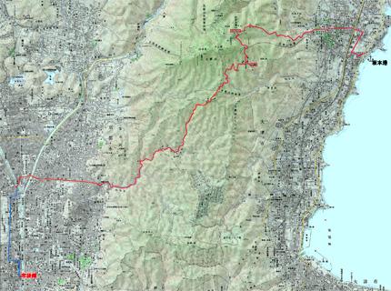 比叡山越え経路(クリックすると拡大します)