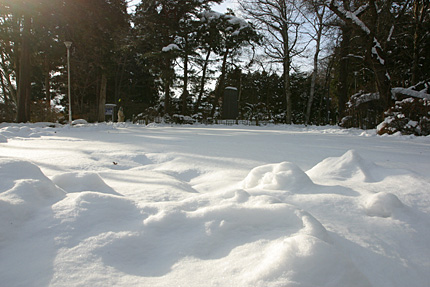 雪の羅須地人協会跡