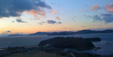 元日の夕暮れの瀬戸内海