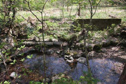 西鉛温泉・露天風呂跡