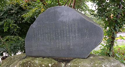 「巨杉」詩碑