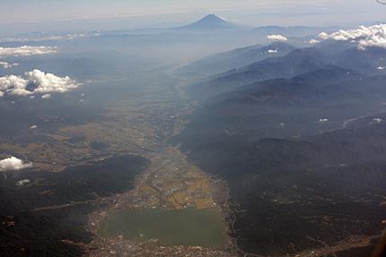 富士山と諏訪湖