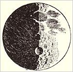 ガリレオによる月の表面のスケッチ