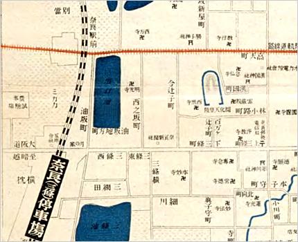 實地踏測 奈良市街全図
