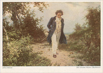 シュミット「孤独な巨匠:自然を散策するベートーヴェン」
