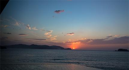 浪板海岸の夜明け