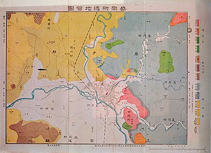 盛岡附近地質図